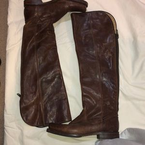 Frye Distressed over the knee Boots